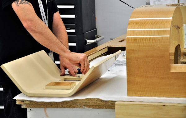 Flying Colours Corp. cabinet makers pay great attention to detail to produce quality components